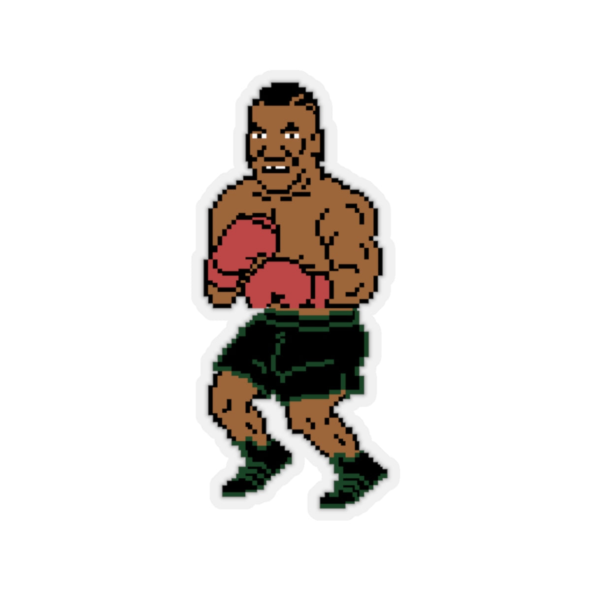 Mike Tyson Inspired Punchout Kiss-Cut Stickers