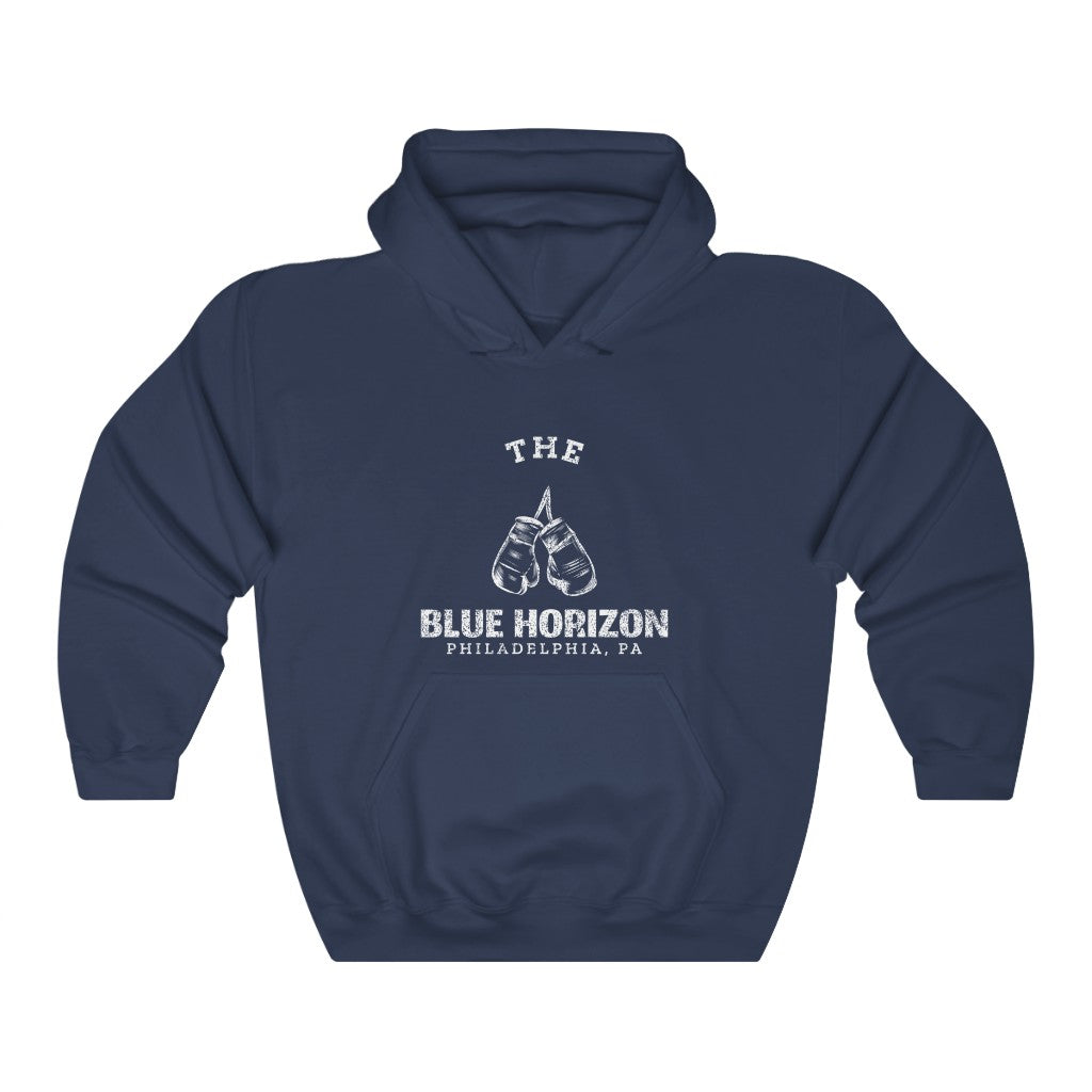 Retro The Blue Horizon Unisex Heavy Blend™ Hooded Sweatshirt