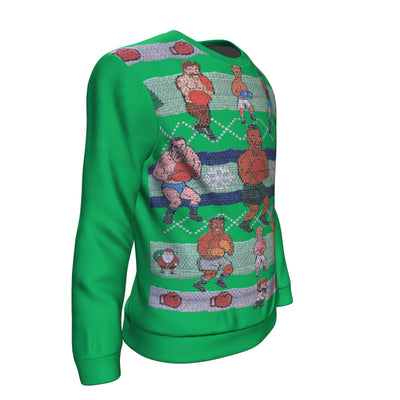 Green Tyson Punchout Inspired Ugly Christmas Sweatshirt