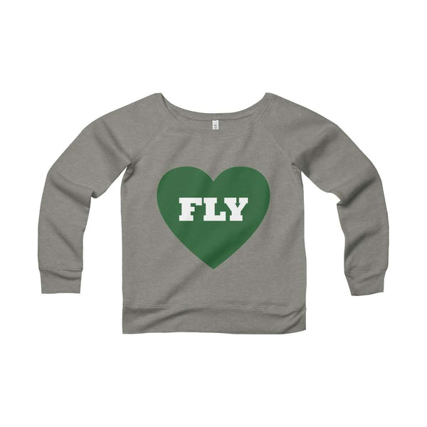 Fly Love Women's Sponge Fleece Wide Neck Sweatshirt