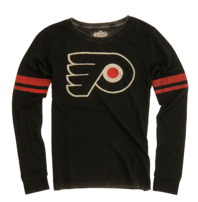 Vintage Inspired Womens Philadelphia Flyers Hawaii Long Sleeve Pull Over - Generation T