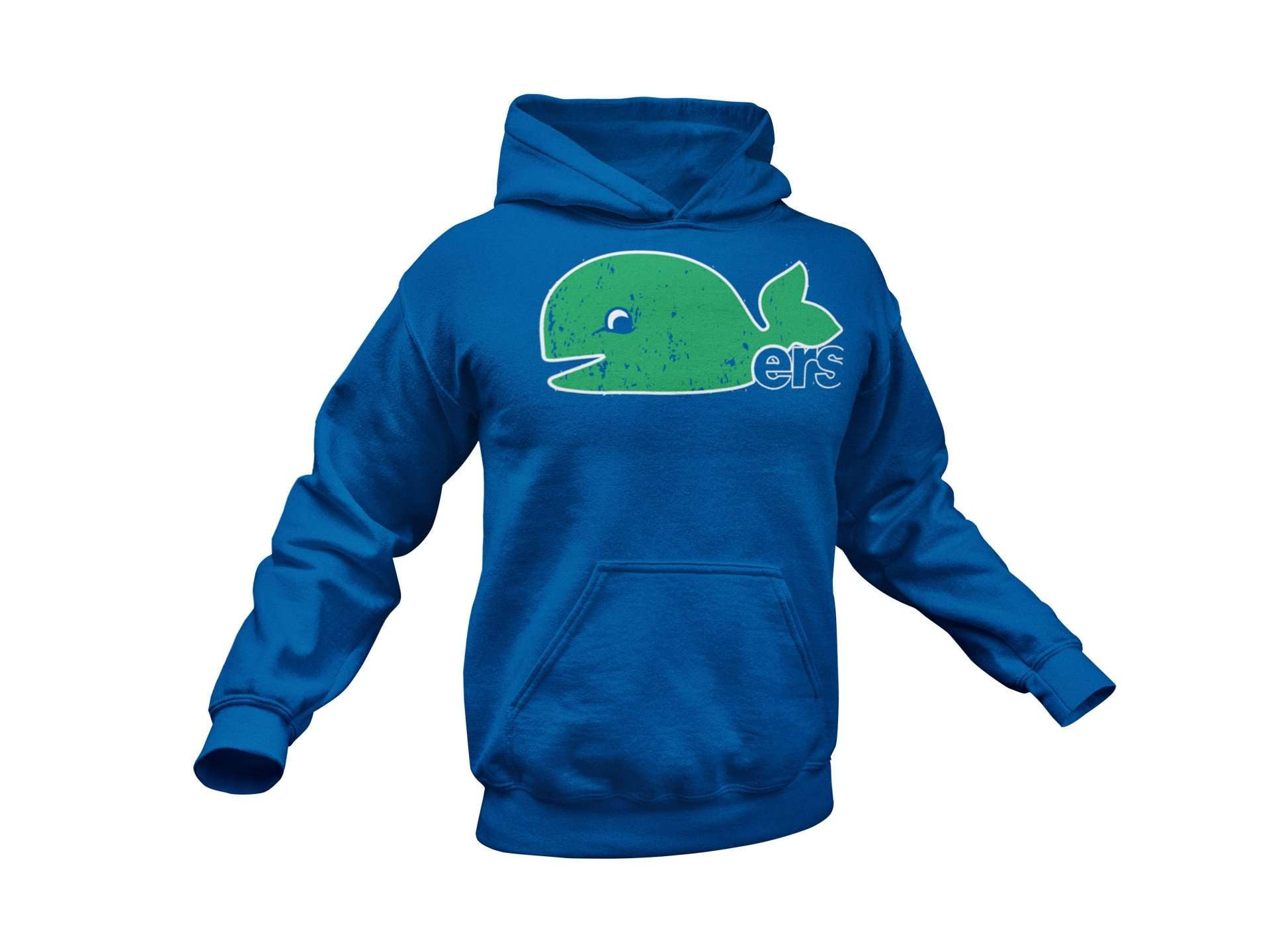Hartford Whalers Inspired Pullover Hoodie