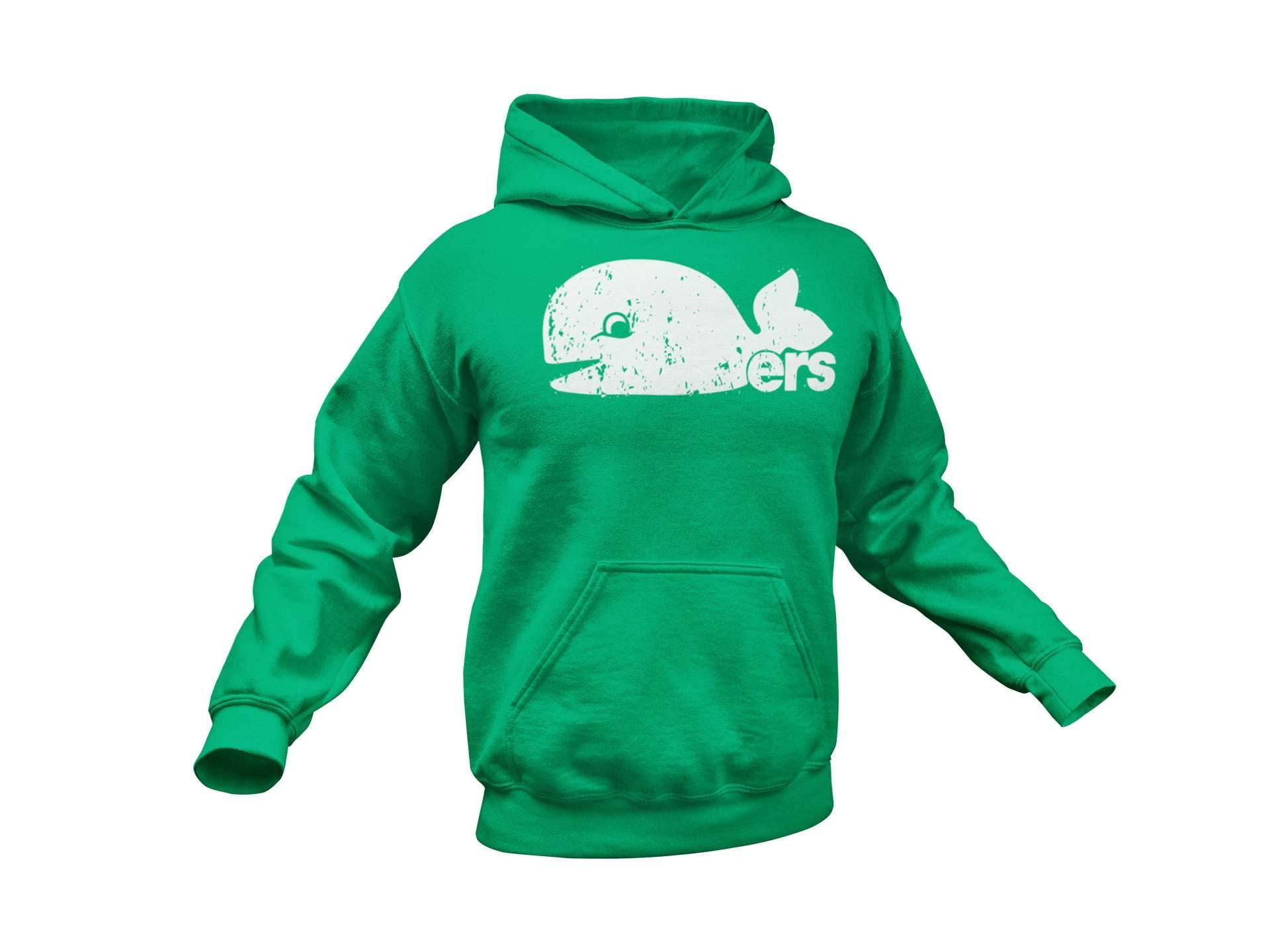 Hartford Whalers Pucky Inspired Pullover Hoodie