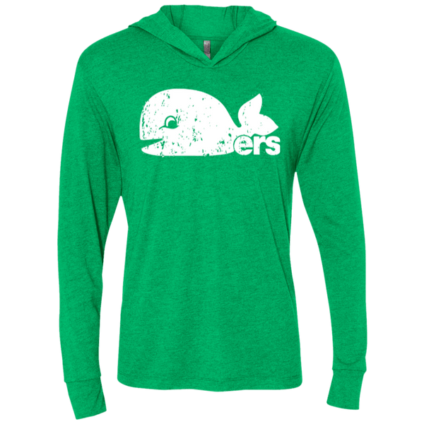 Hartford Whalers Pucky Inspired Unisex Triblend LS Hooded T-Shirt