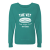 The Vet Ladies Slouchy French Terry Pullover in Green - Generation T