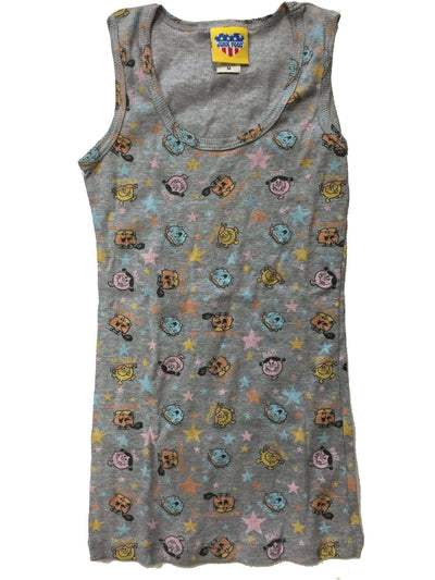 Junk Food Girls Little Miss Characters All Over Tank Top