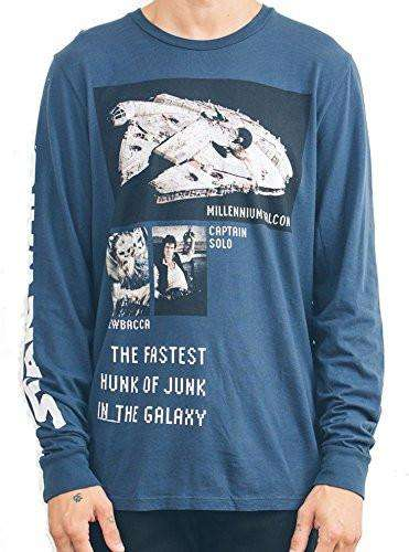Junk Food Mens Star Wars Hunk Long Sleeve Shirt