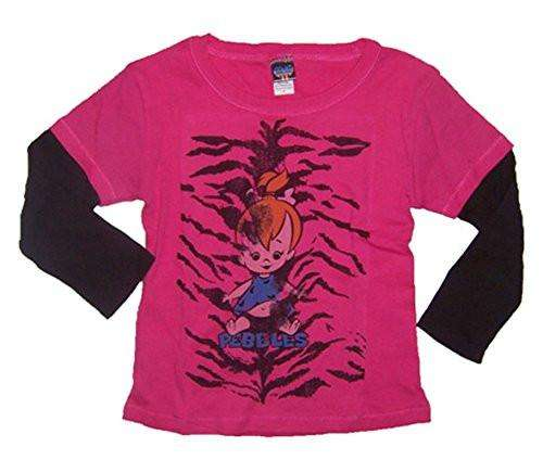 Junk Food The Flintstones Pebbles Flashdance Infant 2fer Shirt