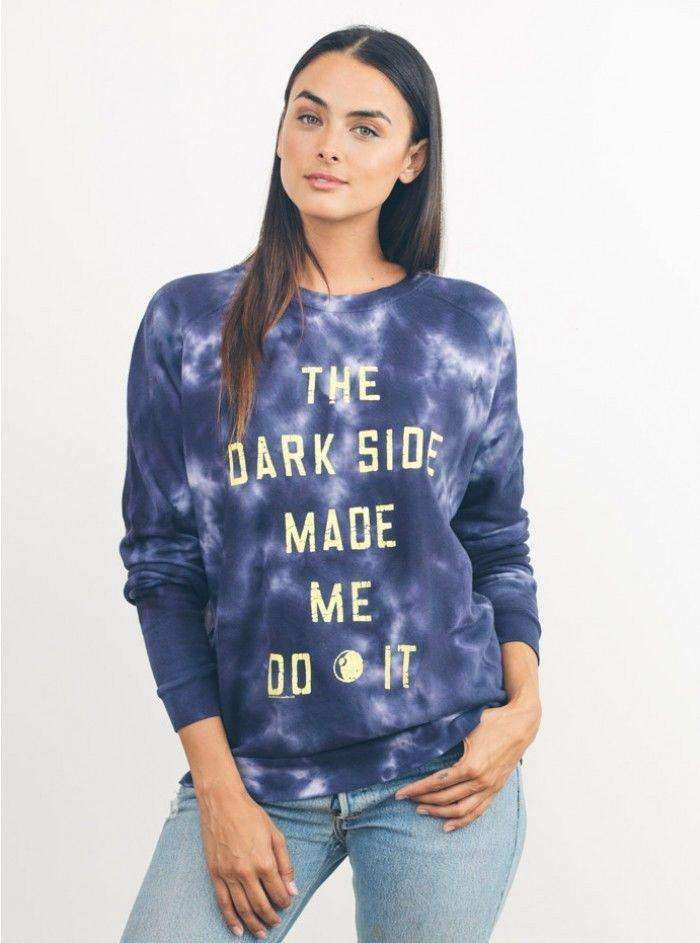 Junk Food Womens Star Wars The Dark Side Made Me Do It Sweatshirt