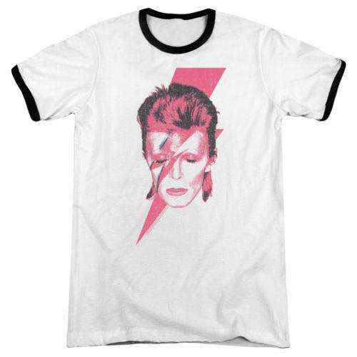 David Bowie Ziggy In The Street Sueded Fitted Jersey T-Shirt