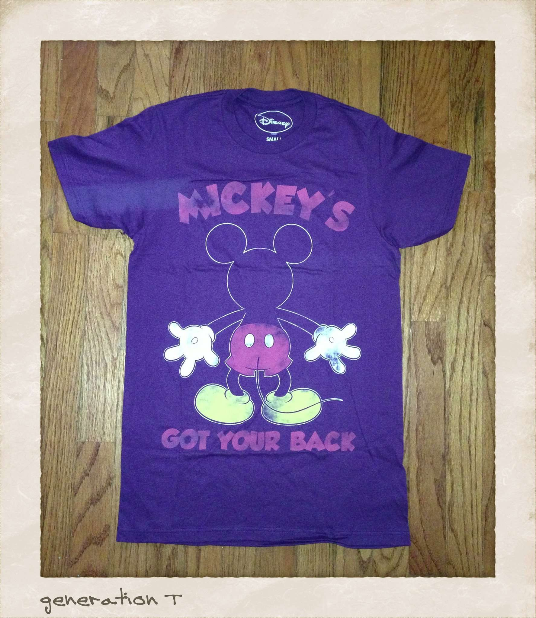 Mens Mighty Fine Vintage Inspired Disney Mickey Mouse Has Your Back T-Shirt