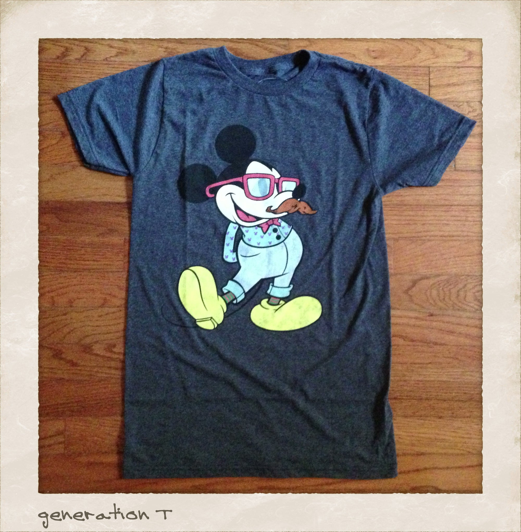 Vintage Inspired Disney Mickey Mouse Hipster Mens T-Shirt - Generation T