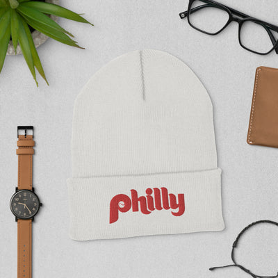Old School Philly Embroidered Cuffed Beanie