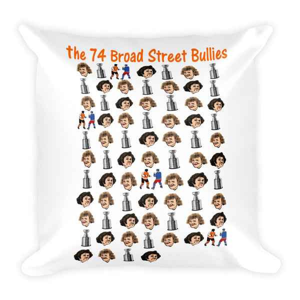 the 74 Broad Street Bullies Square Pillow - Generation T