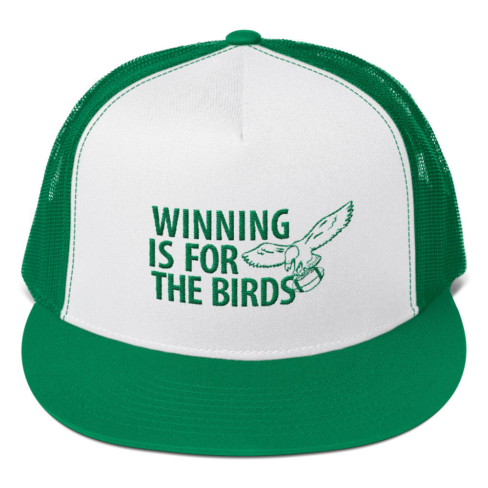 Winning is For The Birds Embroidered Trucker Cap
