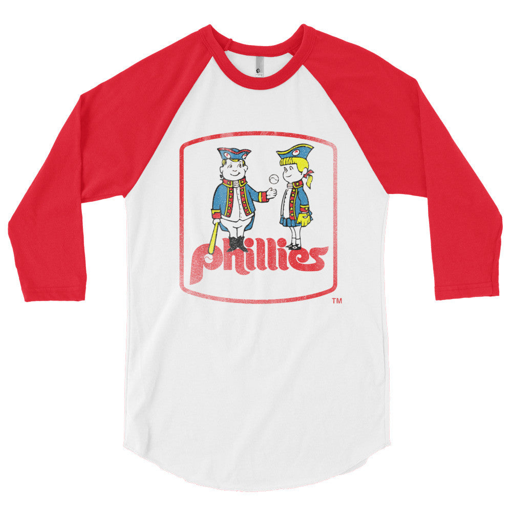 24d2ab4ef Philadelphia Phillies Inspired Phil and Phyllis 3 4 Sleeve Raglan Shirt -  Generation T