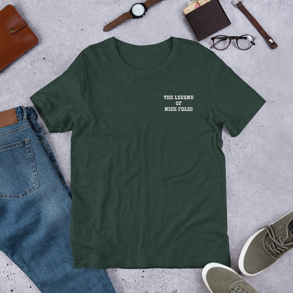 new style 10a25 78784 The Legend of Nick Foles Embroidered Short-Sleeve Unisex T-Shirt