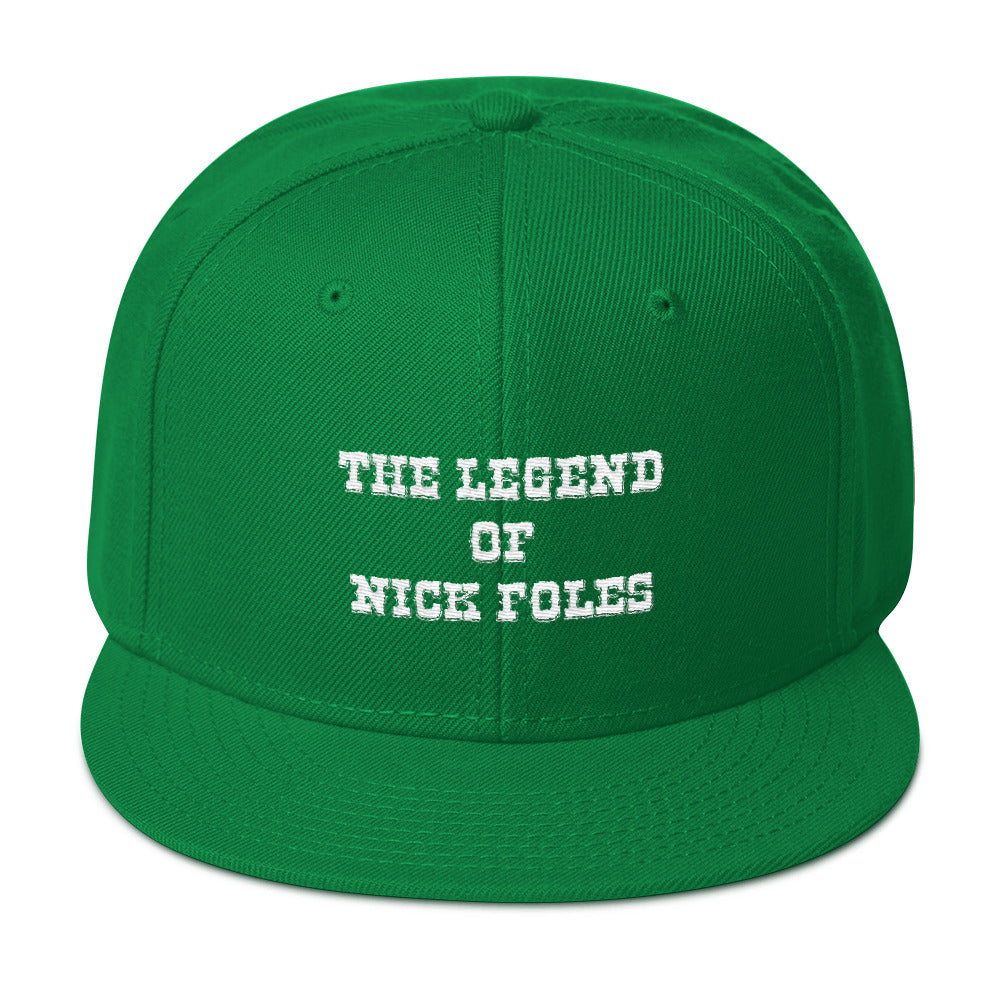 The Legend of Nick Foles Embroidered Snapback Hat