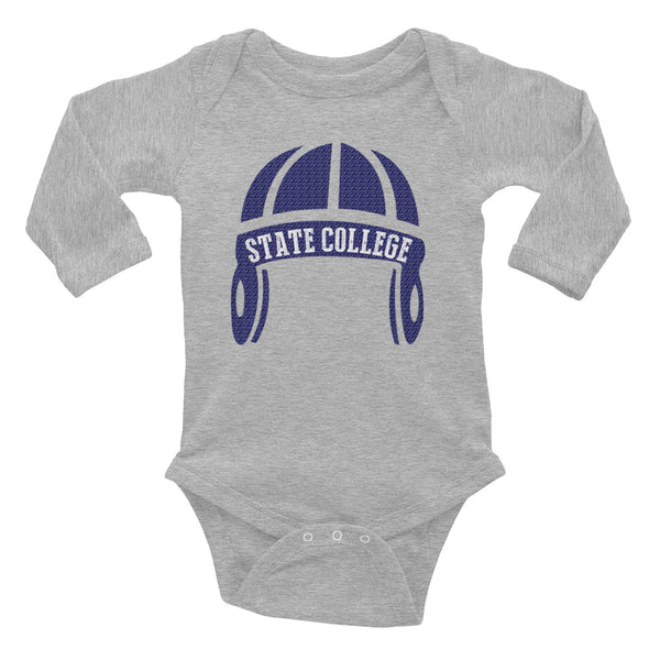 State College Football Infant Long Sleeve Bodysuit
