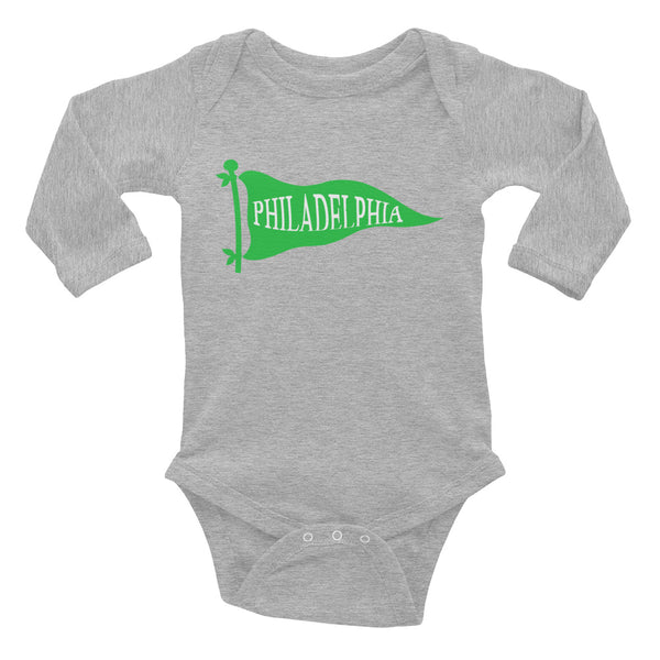 Philly Football Pennant Infant Long Sleeve Bodysuit