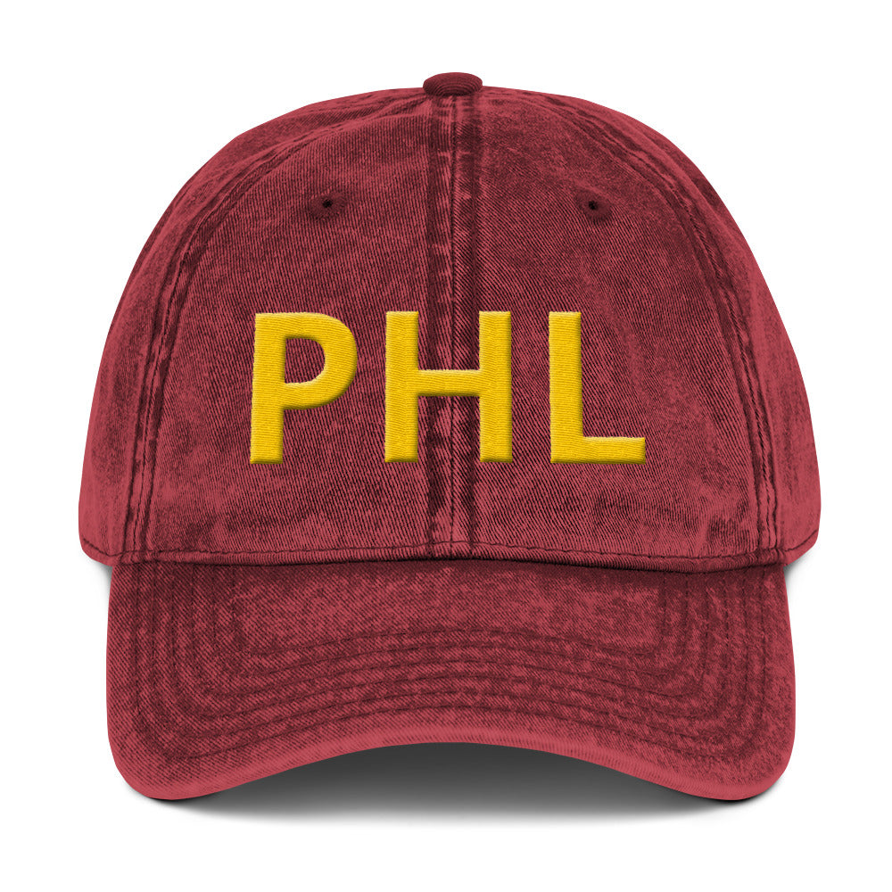 Retro PHL Vintage Cotton Twill Embroidered Cap