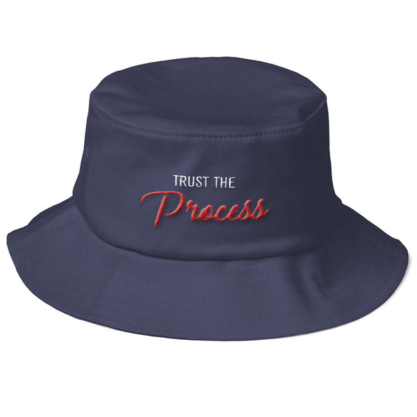 80s Script The Process Old School Embroidered Bucket Hat