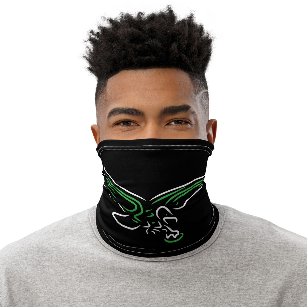 Retro Neon Birds Face Mask Neck Gaiter