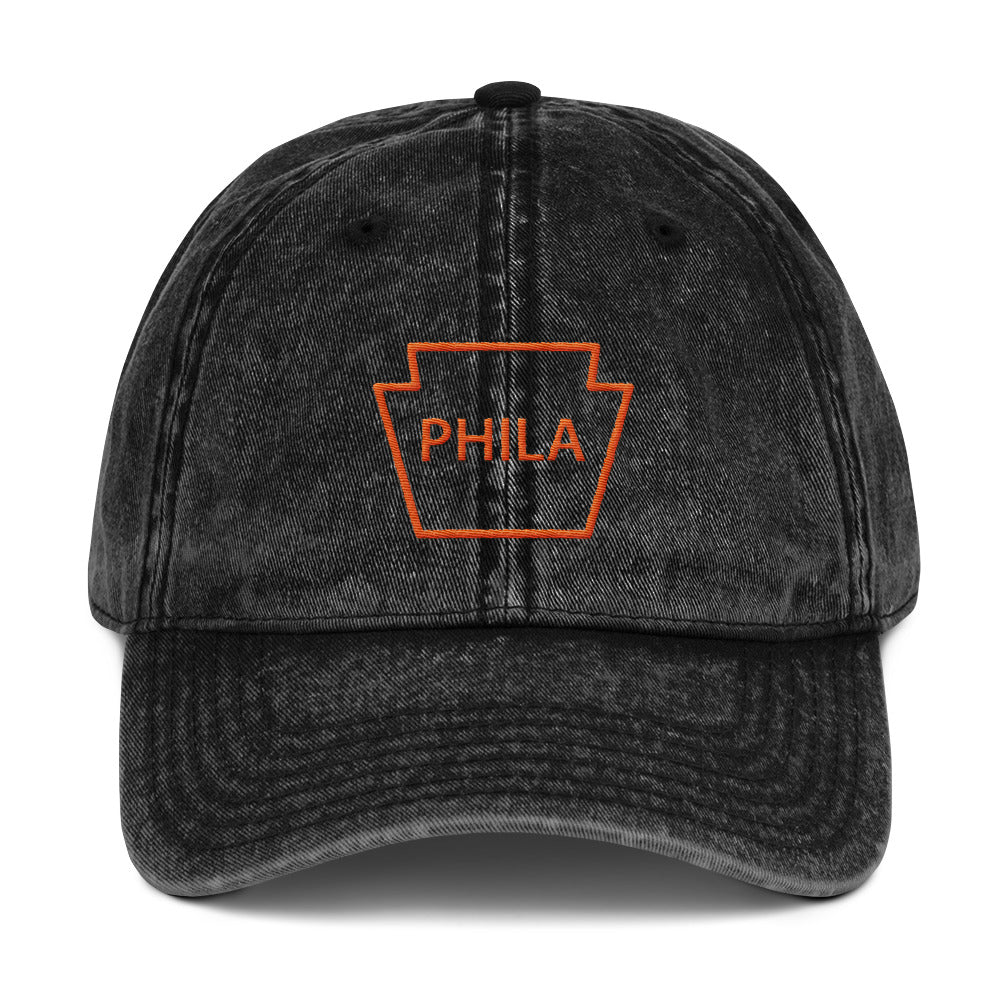 Retro Philly Keystone Hockey Vintage Cotton Twill Embroidered Cap