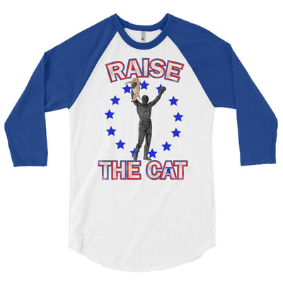 Raise The Cat Basketball 3/4 sleeve raglan shirt - Generation T