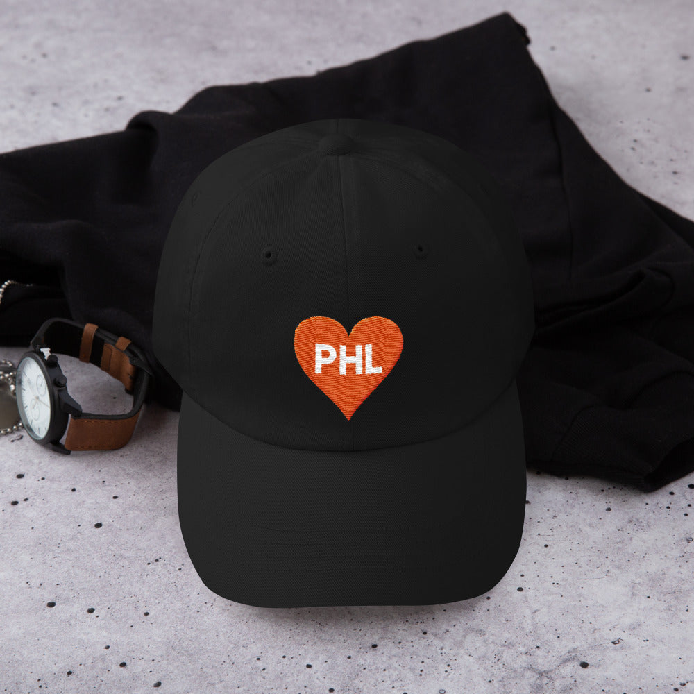 Philly Hockey Love Heart Dad hat