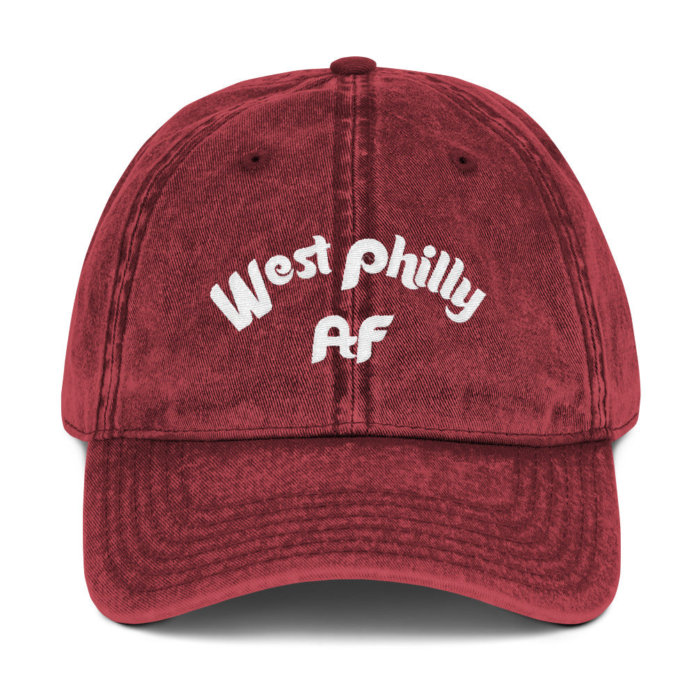 West Philly AF Embroidered Vintage Cotton Twill Cap