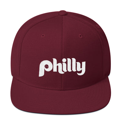 Retro Philly Baseball Script Embroidered Snapback Hat