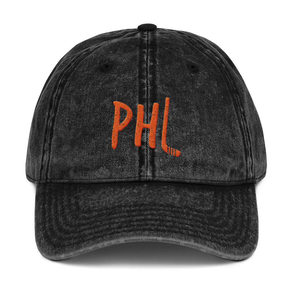 Retro Philly Hockey Vintage Cotton Twill Embroidered  Cap