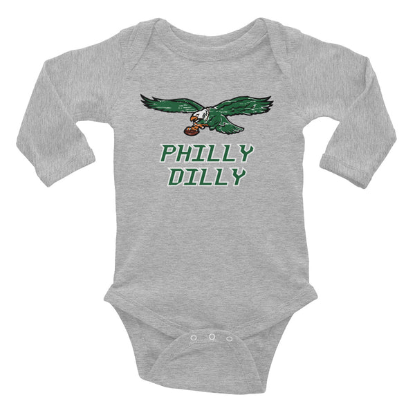 Philly Dilly Infant Long Sleeve Bodysuit