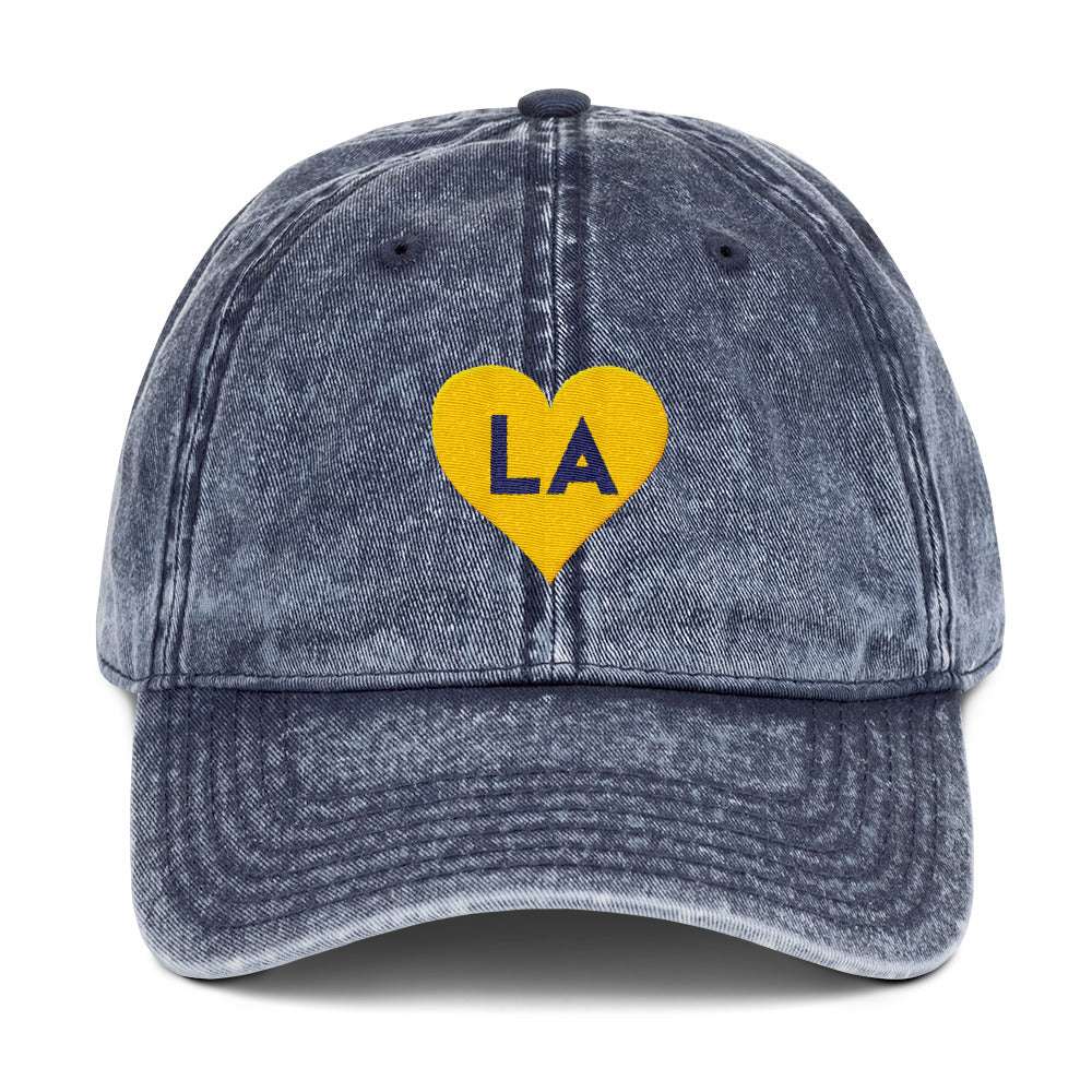 LA Love Vintage Cotton Twill Embroidered Cap