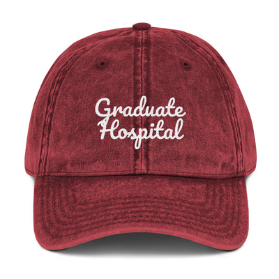 Graduate Hospital Philly Vintage Cotton Twill Cap