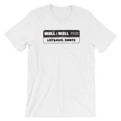Wall to Wall Sound and Listening Booth Short-Sleeve Unisex T-Shirt
