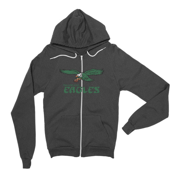 Retro American Apparel Made in the USA Philadelphia Eagles Old School Hoodie - Generation T