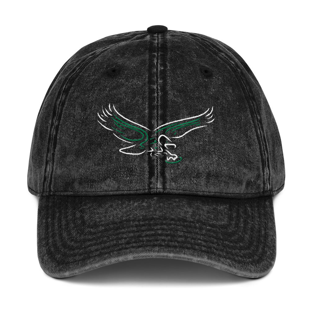 Neon Philadelphia Football Old School Bird Vintage Embroidered Cotton Twill Cap