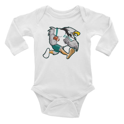 Retro Philadelphia Bird Infant Long Sleeve Bodysuit - Generation T