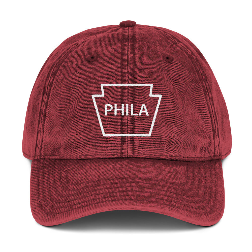Philly Baseball Keystone Embroidered Vintage Cotton Twill Cap