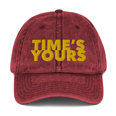 Andy Reid Inspired Time's Yours Championship Hat Vintage Cotton Twill Embroidered Cap