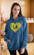 LA Football Love Heart Unisex Hooded Sweatshirt
