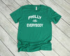 Philly vs. Everybody Football Edition Unisex Jersey Short Sleeve Tee