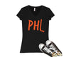 Retro Philly Hockey Womens V-Neck T-Shirt