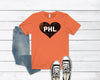 Philly Hockey Heart Unisex Jersey Short Sleeve Tee