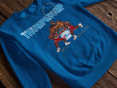 Thump and Bump Crewneck Pullover Sweatshirt - Generation T