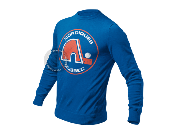 Retro Quebec Nordiques Long Sleeve Ultra Cotton T-Shirt