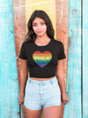 Philly Pride Heart Women's Crop Top