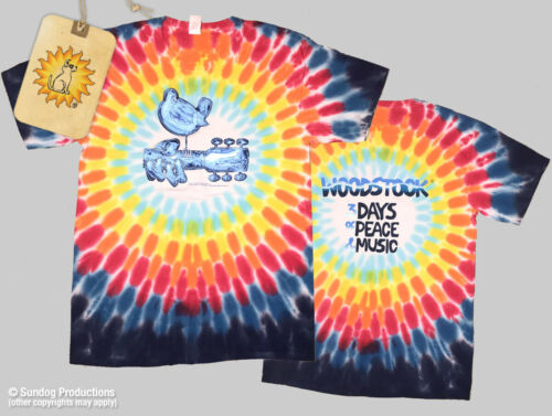 Mens Woodstock Chrome Tie Dye T-Shirt